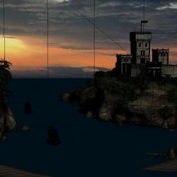 3DMAX海边城堡模型