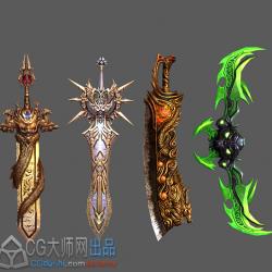 武器 法宝3DMAX模型屠龙刀、蛋刀等