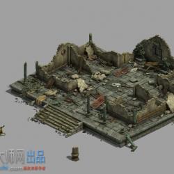 中式场景-废墟-