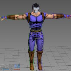 【高精度】JOJO练习模型带懒人CS绑定+鞭腿动作