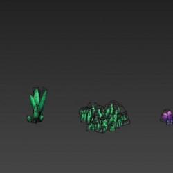 (大师网3082)3d场景模型海底植物海底珊瑚