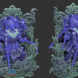 大师网分享游戏3d场景模型浮雕石像雕塑石像