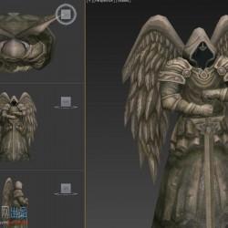 (大师网)3d场景模型-暗黑风大天使雕像