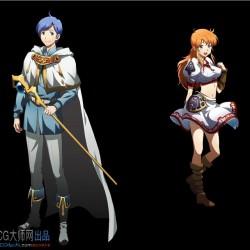 日本幻想神作梦幻模拟战UI魔幻二次元动漫风游戏美术资源