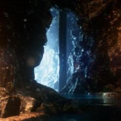 UE4场景资源:洞穴中流水瀑布的效果,山脉暴风雪