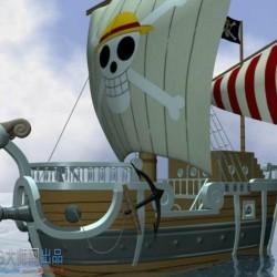 动画片《海贼王》中的黄金梅丽号(含贴图)