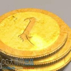 金币 钱币 货币 3d模型免费下载