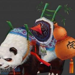 骑宠模型熊猫骑宠模型资源