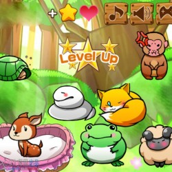 卡通宠物养成动物森林生活兔猪熊羊青蛙序列帧游戏素材