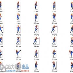经典像素【双截龙】角色序列帧+游戏背景 美术素材