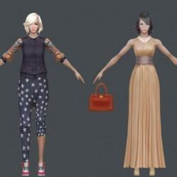 超好手绘现代风女角色美女模型合集cg模型网