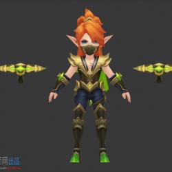 中式韩风3d手游Q版3d角色模型素材(部分)