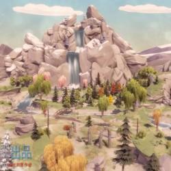 unity 3d模型资源 低边面野外自然场景POLYGON - Nature Pack 1.0