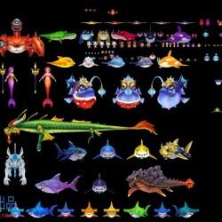 非常精美的一整套3d捕鱼模型资源