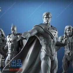 【精品模型】正义联盟 6个人物  3D打印模型