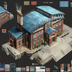 CG概念场景原画插画建筑设计图参考素材 韩国概念设计师KKS