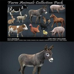 CG模型资源Cubebrush - 农场动物收集包