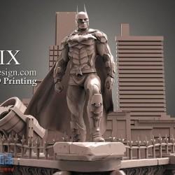 CG模型资源Cubebrush - 蝙蝠侠Diorama 3D 可打印模型