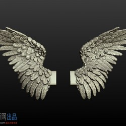 CG模型资源3D打印 翅膀 Cubebrush - Wings