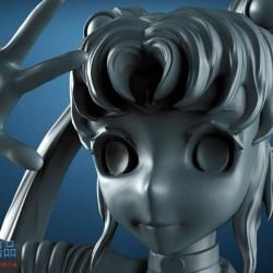 日式美少女cg模型Cubebrush - 美少女战士3D打印模型 三维模型下载