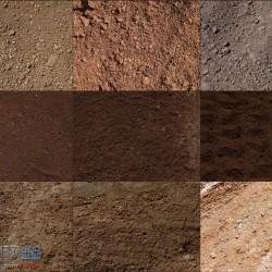 2d写实地表贴图 土壤土地材质贴图 2D贴图资源