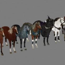 手绘次世代精品坐骑 3Dmax战马模型有法线贴图