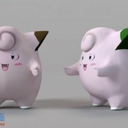 卡通动物精灵C4D模型