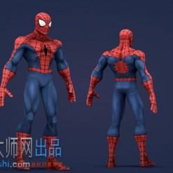 蜘蛛侠C4D模型