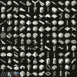 200个科幻元素3d模型(.obj格式)