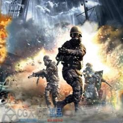 《使命召唤4》战争游戏人物动画C4D模型合集