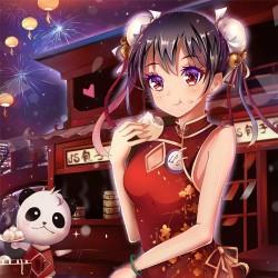 二次元动漫美少女东方旗袍 服装图片集日系卡通绘画