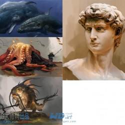 Gumroad - Lu Dongjun - 第七课:鱼和人像绘画教程