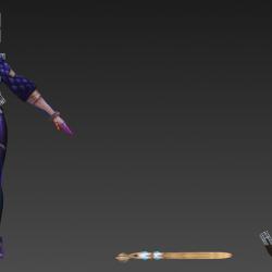 【KDA】天团LOL英雄联盟第一女团 模型+绑定+jpg大图