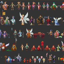 自由幻想角色模型资源