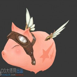 可爱的Q版c宠物小猪-飞天猪