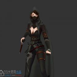 古风女刺客模型-带动作
