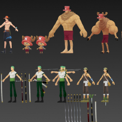 全网首发:日本动漫游戏 海贼王角色模型合集
