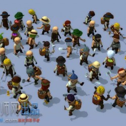 30000 Animated Characters 卡通Q版动画角色模型包