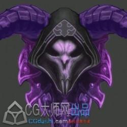 [2D特效] 死亡领主勋章,骷髅巫师ae(带源文件)动态特效
