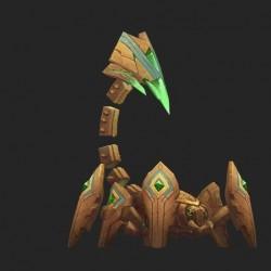 一只石头蝎子怪物模型