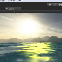 带有光照效果的水纹理特效shaders