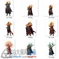 传奇类角色序列图47把武器96件衣服,男女齐全 8方向