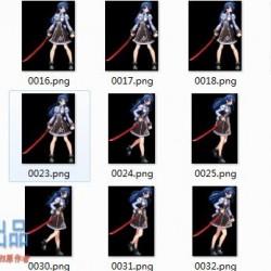 横版美少女 格斗序列帧动画,几万张