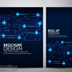 光圈 蓝色炫酷科技感网页banner线路光圈亮点平面设计