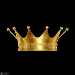 一顶手绘皇冠3d道具模型