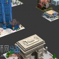 3D 手游 地产风云 全套 现代 建筑 游戏 美术 模型 场景 MAX 格式