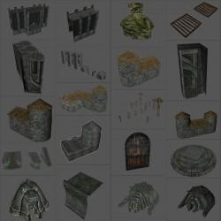 欧美魔幻写实《上古卷轴5:龙裔归来》角色 武器 场景拆件