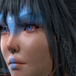 游戏美术素材 次时代绝对高质量 半纳美人-灵女 角色3D模型贴图