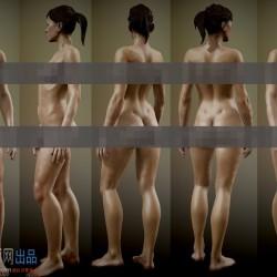 欧美写实风女性基本体标准模型