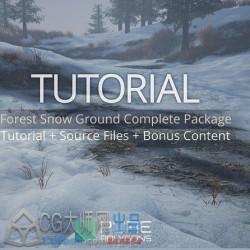 Substance与UE森林雪地景观实例制作视频教程